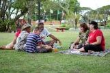 Senior staff enjoying the picnic
