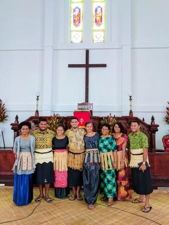 Church service at Saione.